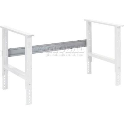 """Global Industrial™ Workbench Steel Stringer For C Channel Open Leg, 72""""W, Gray"""