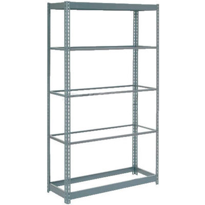 """Global Industrial™ Heavy Duty Shelving 48""""W x 12""""D x 60""""H With 5 Shelves - No Deck - Gray"""
