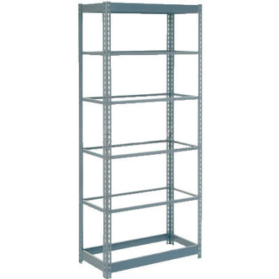 """Heavy Duty Shelving 36""""W x 12""""D x 60""""H With 6 Shelves - No Deck - Gray"""