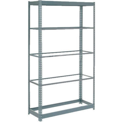 """Heavy Duty Shelving 48""""W x 12""""D x 60""""H With 6 Shelves - No Deck - Gray"""