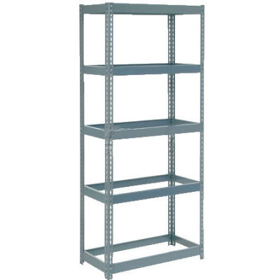 """Extra Heavy Duty Shelving 36""""W x 12""""D x 60""""H With 5 Shelves - No Deck - Gray"""