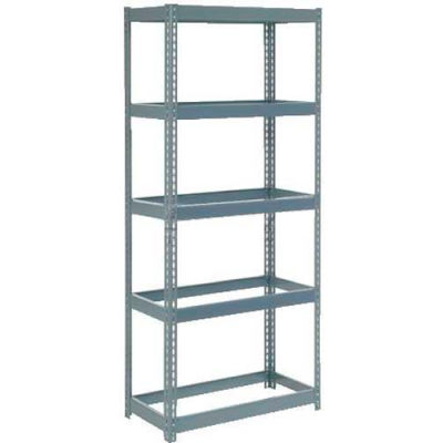 "Extra Heavy Duty Shelving 36""W x 18""D x 60""H With 5 Shelves - No Deck - Gray"