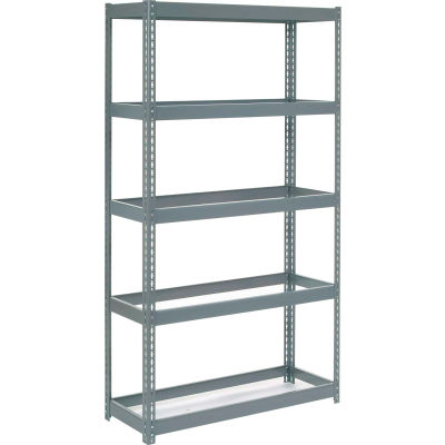 """Global Industrial™ Extra Heavy Duty Shelving 48""""W x 12""""D x 60""""H With 5 Shelves, No Deck, Gray"""