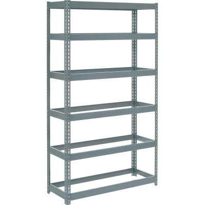 """Global Industrial™ Extra Heavy Duty Shelving 48""""W x 24""""D x 60""""H With 6 Shelves, No Deck, Gray"""