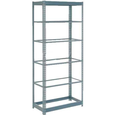 """Heavy Duty Shelving 36""""W x 24""""D x 84""""H With 6 Shelves - No Deck - Gray"""