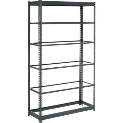 """Global Industrial™ Heavy Duty Shelving 48""""W x 12""""D x 84""""H With 6 Shelves - No Deck - Gray"""