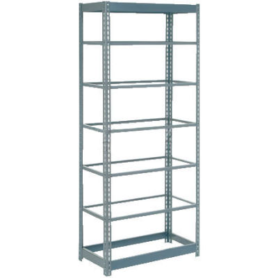 """Heavy Duty Shelving 36""""W x 18""""D x 84""""H With 7 Shelves - No Deck - Gray"""