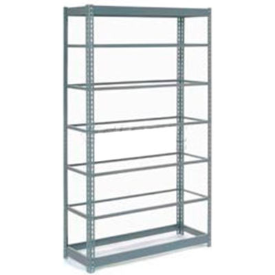 """Heavy Duty Shelving 48""""W x 18""""D x 84""""H With 7 Shelves - No Deck - Gray"""