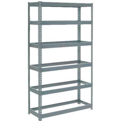 """Extra Heavy Duty Shelving 48""""W x 18""""D x 84""""H With 6 Shelves - No Deck - Gray"""