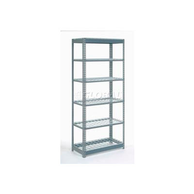 "Global Industrial™ Heavy Duty Shelving 36""W x 24""D x 84""H With 6 Shelves - Wire Deck - Gray"