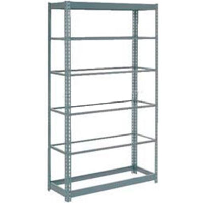 """Global Industrial™ Heavy Duty Shelving 48""""W x 18""""D x 96""""H With 6 Shelves - No Deck - Gray"""