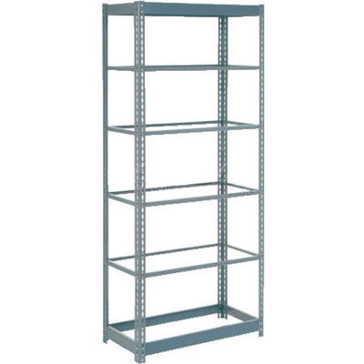"""Heavy Duty Shelving 36""""W x 18""""D x 96""""H With 7 Shelves - No Deck - Gray"""