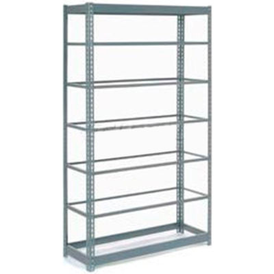 """Heavy Duty Shelving 48""""W x 24""""D x 96""""H With 7 Shelves - No Deck - Gray"""