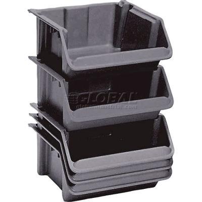 "LEWISBins Fiberglass Stack & Nest Hopper Bin, 16-1/2""W x 24""D x 8""H, Gray - Pkg Qty 5"