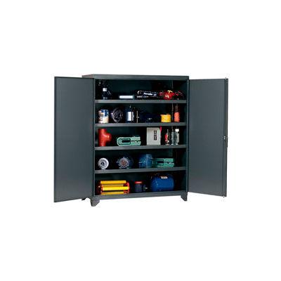 Heavy Duty Storage Cabinet with Reinforced Shelves 60x24x76-3/4