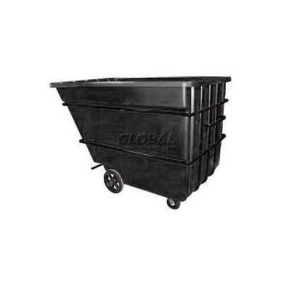 Bayhead Products Black Heavy Duty 2.2 Cubic Yard Tilt Truck 2500 Lb. Capacity