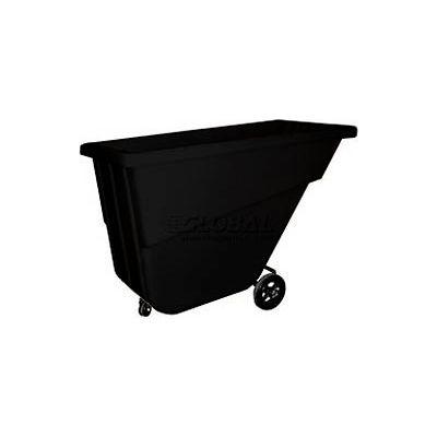 Bayhead Products Black Light Duty 5/8 Cubic Yard Tilt Truck 300 Lb. Capacity