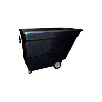 Bayhead Products Black Light Duty 1.7 Cubic Yard Tilt Truck 1000 Lb. Capacity