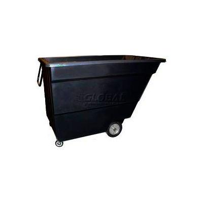 Bayhead Products Black Light Duty 1.7 Cubic Yard Tilt Truck 1000 Lb. Capacity
