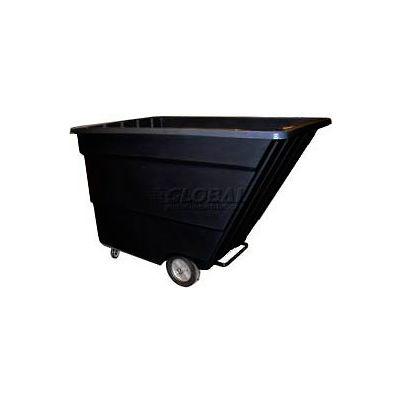 Bayhead Products Light Duty Plastic Tilt Truck, 2-2/10 Cu. Yd. Cap, 1200 Lbs. Cap, Black