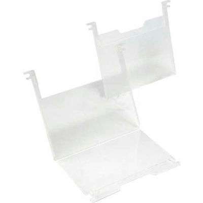 """Quantum SNH010 3"""" x 5"""" Clear Plastic Label Holder Price for Pack of 6"""