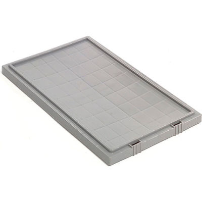 Lid LID181 for Stack And Nest Container - Plastic Storage SNT180, SNT185, Gray - Pkg Qty 6