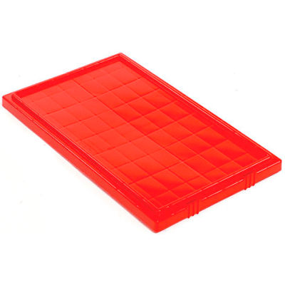 Lid LID201 for Stacking & Nesting Totes - Shipping SNT200, Red - Pkg Qty 6