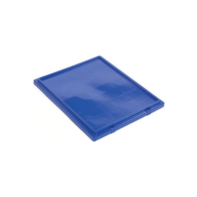 Lid LID191 for Plastic Shipping Containers - Stackable & Nesting SNT190, SNT195, Blue - Pkg Qty 6
