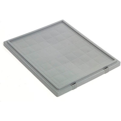 Lid LID241 for Stack And Nest Container - Plastic Storage SNT240, Gray - Pkg Qty 3