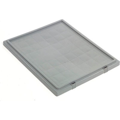 Lid LID301 for Stack And Nest Container - Plastic Storage SNT300, Gray - Pkg Qty 3