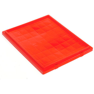 Lid LID301 for Stacking & Nesting Totes - Shipping SNT300, Red - Pkg Qty 3