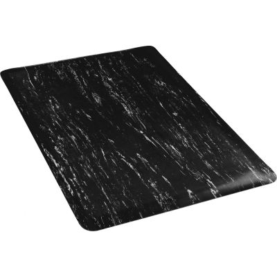 """Apache Mills K-Marble Foot™ Anti-Fatigue Mat 1/2"""" Thick 4' x Up to 60' Black"""
