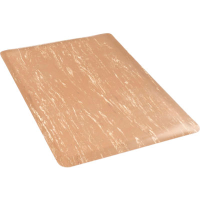 "Marbleized Top Mat, 36"" W Cut Length 1 Ft Up to 60 Ft, Sandalwood"