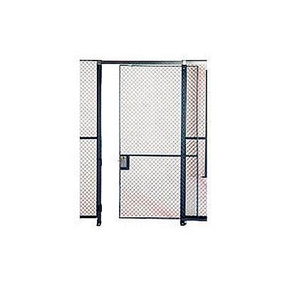 Husky Rack & Wire EZ Wire Mesh Partition Sliding Door - 5'Wx8'H