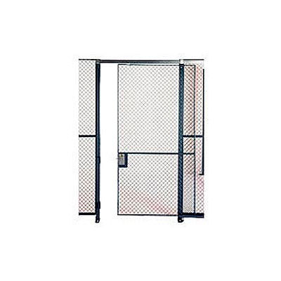Husky Rack & Wire EZ Wire Mesh Partition Sliding Door - 4'Wx10'H