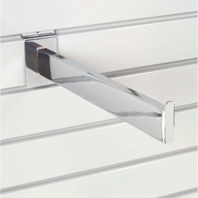 "Global Industrial™ 12"" Slat Wall Accessory Shelf Bracket Tubular - Pkg Qty 24"