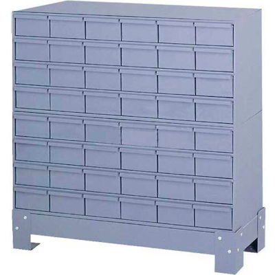 """Durham Steel Drawer Cabinet 017-95 - With 48 Drawers 34-1/8""""W x 12-1/4""""D x 33-3/4""""H"""