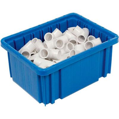 """Global Industrial™ Plastic Dividable Grid Container - DG91050,10-7/8""""L x 8-1/4""""W x 5""""H, Blue - Pkg Qty 20"""