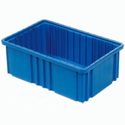 """Global Industrial™ Plastic Dividable Grid Container - DG92060,16-1/2""""L x 10-7/8""""W x 6""""H, Blue - Pkg Qty 8"""