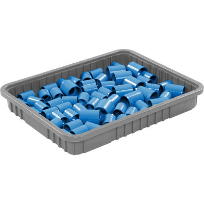 "Global Industrial™ Plastic Dividable Grid Container - DG93030, 22-1/2""L x 17-1/2""W x 3""H, Gray - Pkg Qty 6"