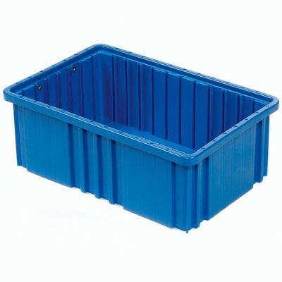 """Global Industrial™ Plastic Dividable Grid Container - DG93080, 22-1/2""""L x 17-1/2""""W x 8""""H, Blue - Pkg Qty 3"""