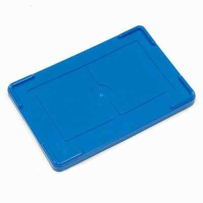 """Global Industrial™ Lid COV92000 for Plastic Dividable Grid Container, 16-1/2""""L x 10-7/8""""W, Blue - Pkg Qty 4"""