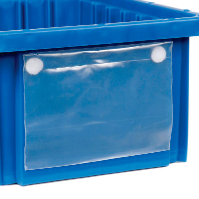 "Global Industrial™ Label Holder LBL2X8 for Plastic Dividable Grid Container, 8""W x 2""H, Qty 6"