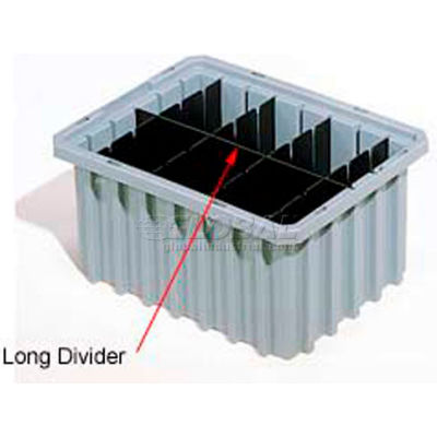 Akro-Mils Short Divider 41220 For Akro-Grid Dividable Grid Containers 33220 Pack Of 6 - Pkg Qty 6