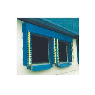 Chalfant Blue Dock Door Seal Model 130 Heavy Duty 40 Ounce 8'W x 8'H with HD Wear Pleats