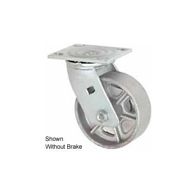 "Faultless Swivel Plate Caster 1406-5RB 5"" Steel Wheel with Brake"