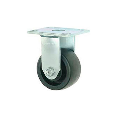 """Faultless Rigid Plate Caster 3465W-5 5"""" Thermoplastic Wheel"""
