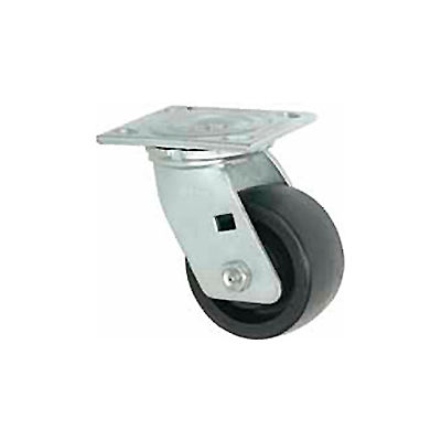 """Faultless Swivel Plate Caster 1465W-6 6"""" Thermoplastic Wheel"""
