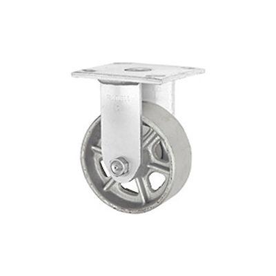 "Faultless Rigid Plate Caster 3406-8 8"" Steel Wheel"