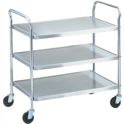 "Vollrath® 97106 - Stainless Steel Shelf Cart, KD, 500 Lbs. Capacity, 40-1/2""D x 21""W x 36-1/2""H"